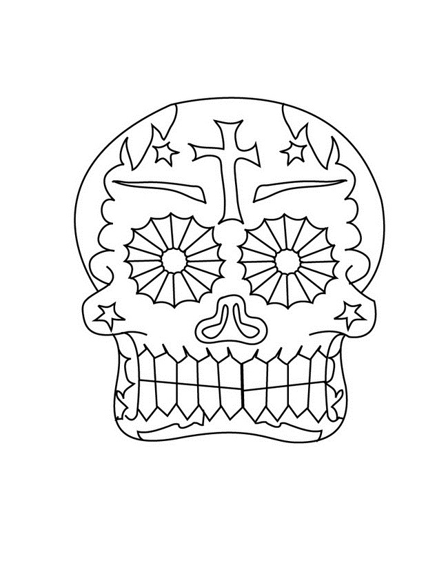 El Dia de Muertos - Dibujos para Colorear. - Ciclo Escolar