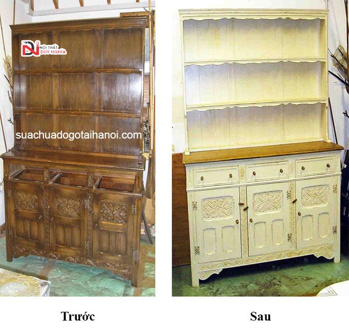 Dịch vụ sơn đồ gỗ tại nhà Hà Nội