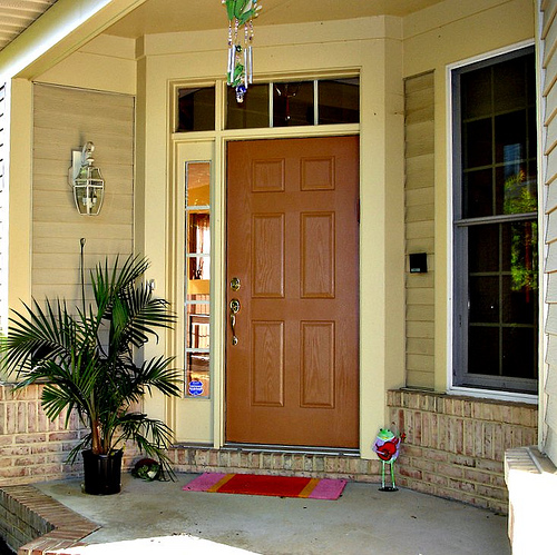 New home designs latest.: Homes modern entrance doors ...