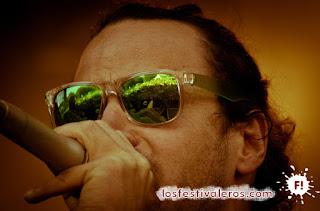 Krismenn, uno de los mejores MC de Beatbox y su público en el Festival du Bout Du Monde.