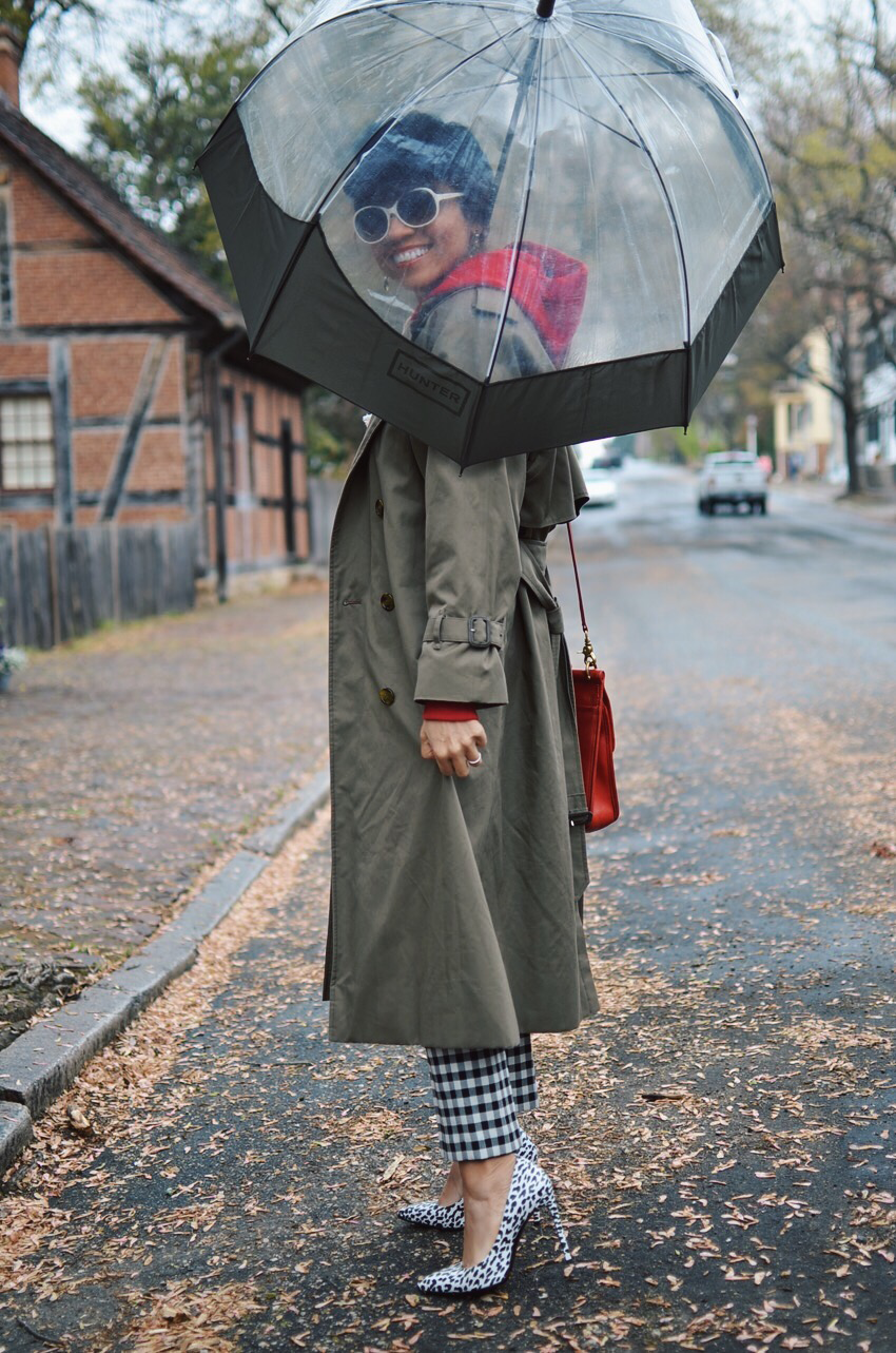 Rainy day look street style