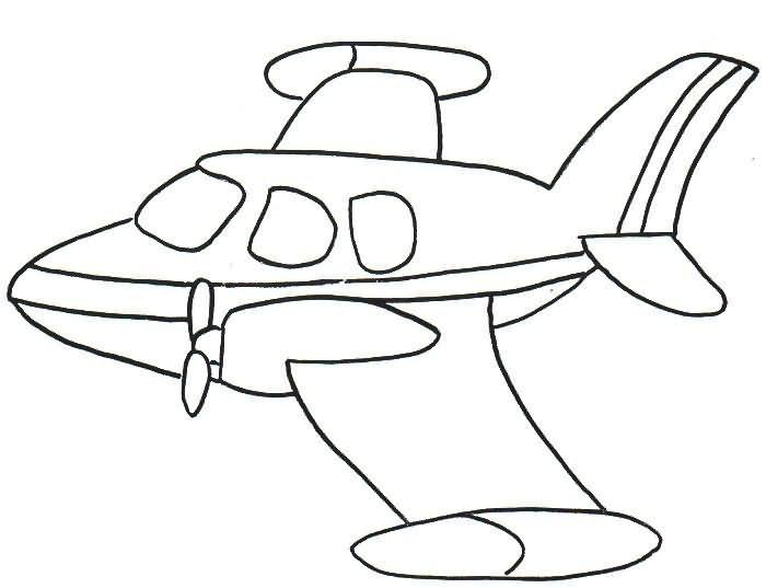 Baú Da Web: 10 Desenhos De Aviões Para Colorir