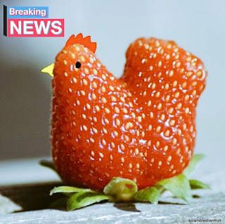 Flash Fiction Online, A fruit shaped like a strawberry chicken