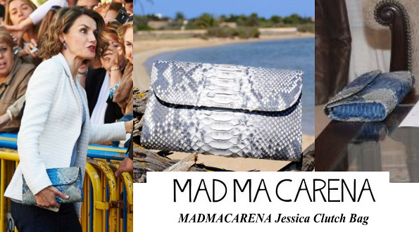 Queen Letizia's MADMACARENA Jessica Clutch Bag