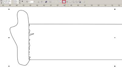 Cara Membuat Desain Cover Buku dengan CorelDRAW X4, fungsi trim