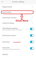 how to copy contacts from sim card to phone memory in android