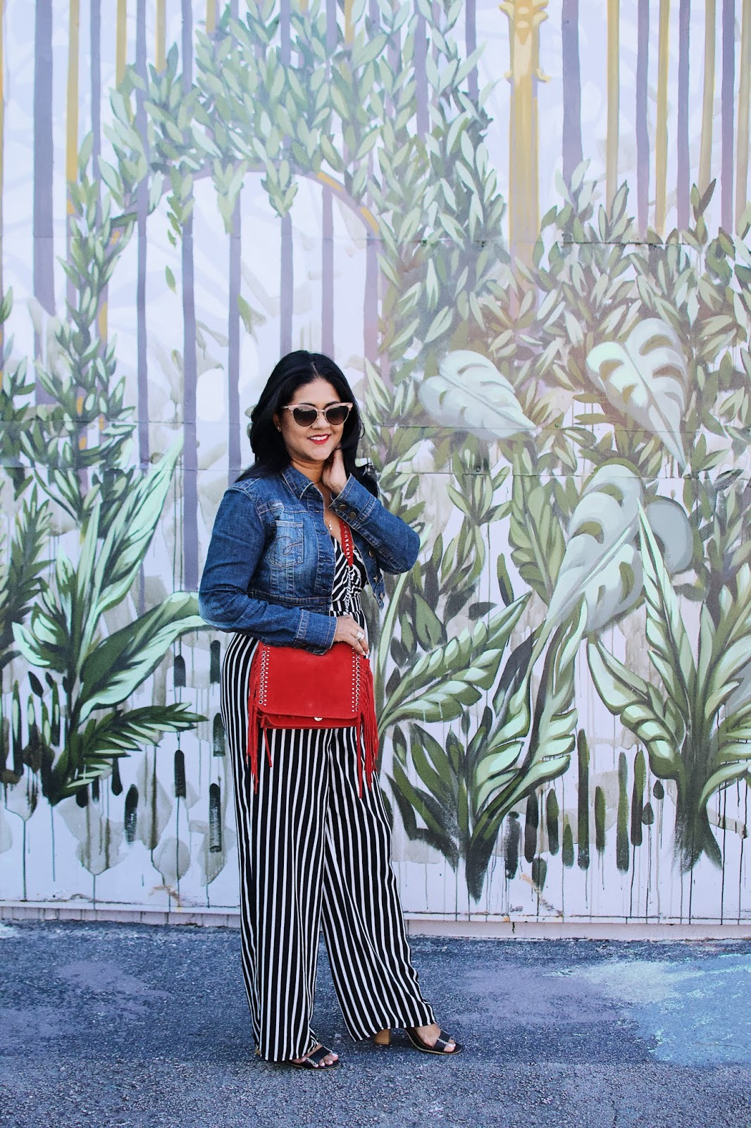 Wynwood walls miami, red fringe purse