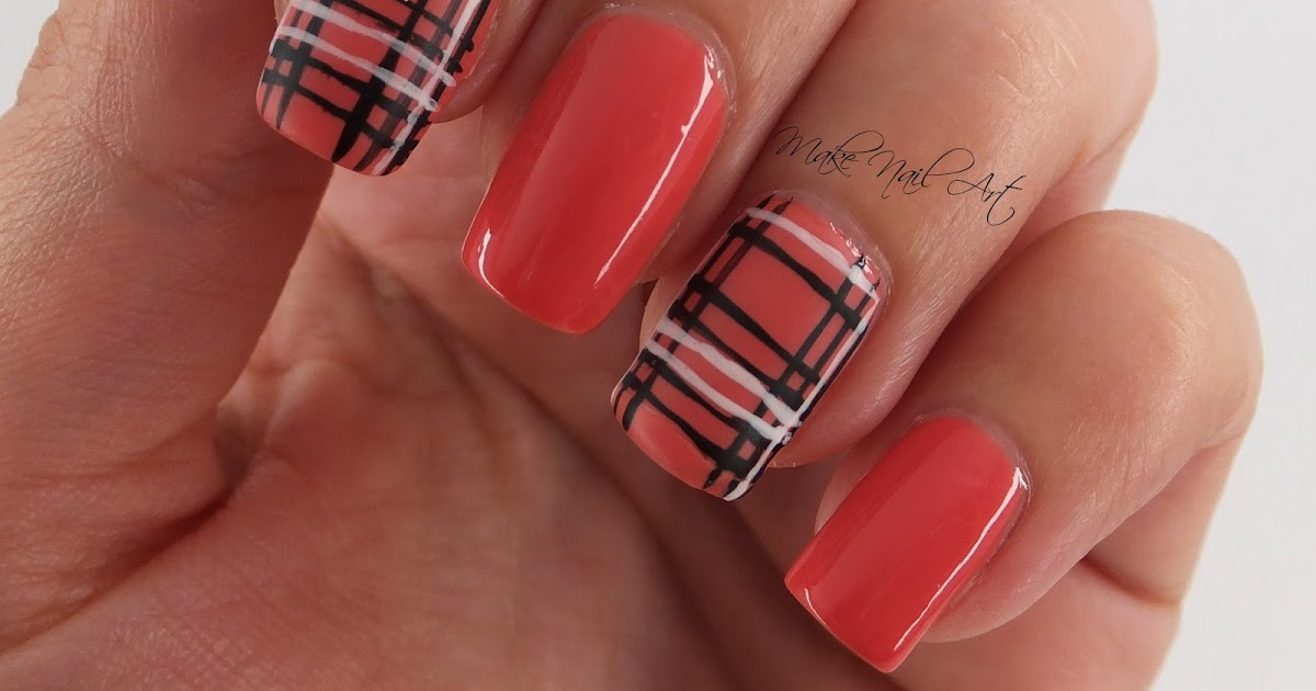Make Nail Art Easy Autumn Plaid Nails Nail Art Design Tutorial