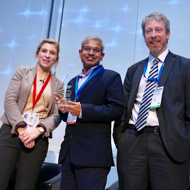Samit Jain recieving the award in London-