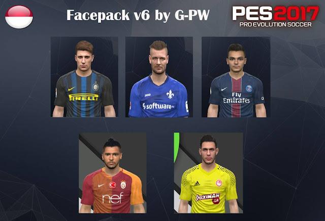 pes 2017 Facepack v6 by G-PW