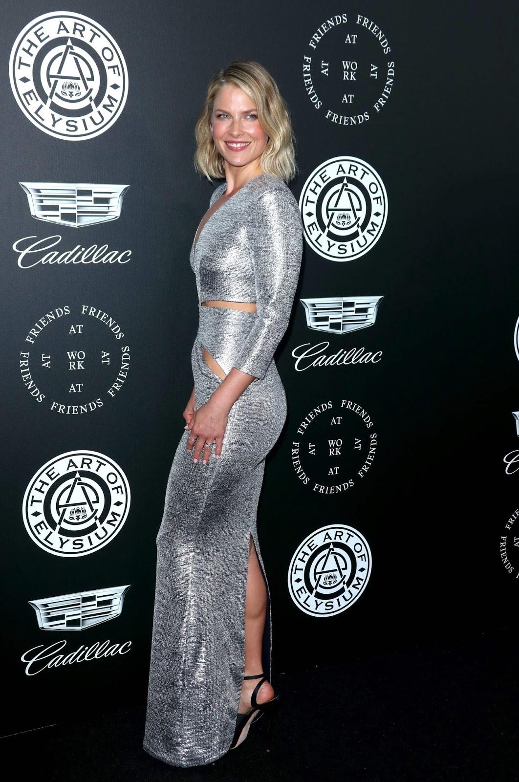 Ali Larter Sexy  in Silver Dress