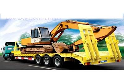 truk hino ranger trailer low bed surabya
