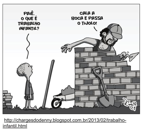 Charge Trabalho Infantil