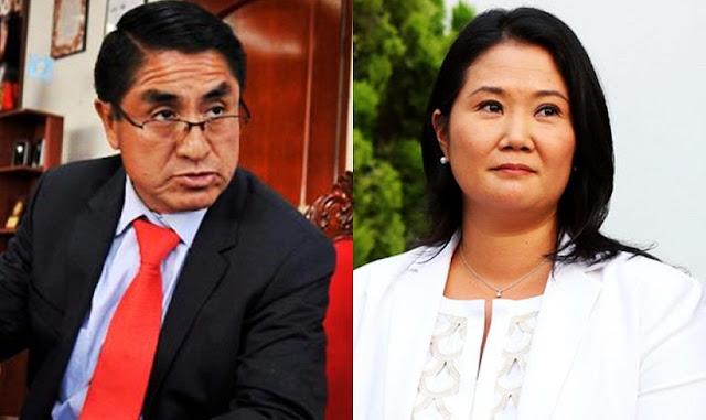 Keiko Fujimori y César Hinostroza