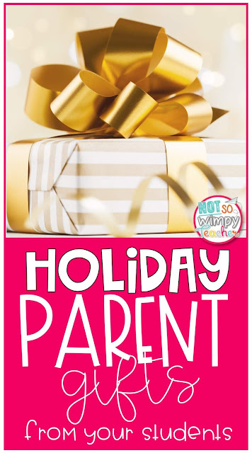 Crafts that students can make to give to their parents as a holiday gift!