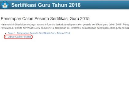 DAFTAR PESERTA SERTIFIKASI GURU 2016