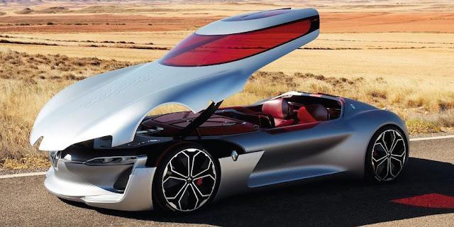 ルノーがルーフの開き方が独特すぎる新型コンセプトカー「Trezor(トレゾア、トレザー)」を発表!