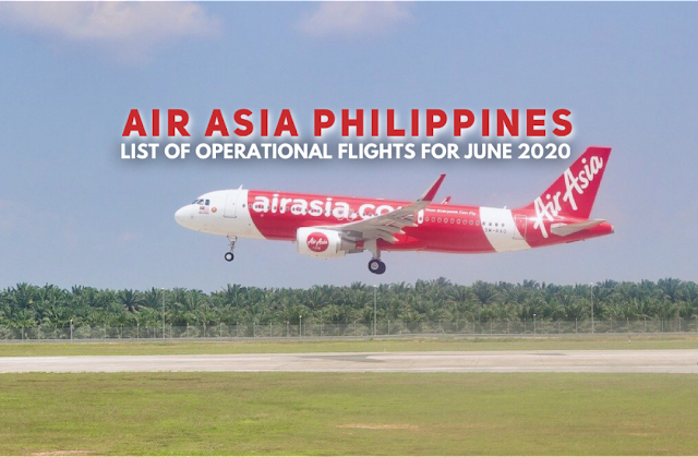 June 2020 Air Asia Philippines Flights
