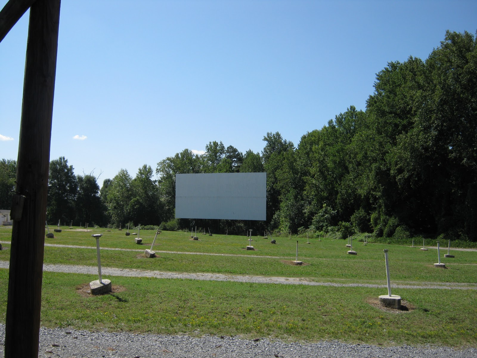 The Screen And Parking Area For Drive In