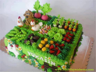 Mini Garden Birthday Cakes