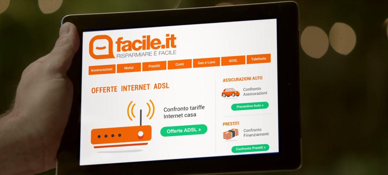 Canzone Facile.it confronto internet ADSL Pubblicità