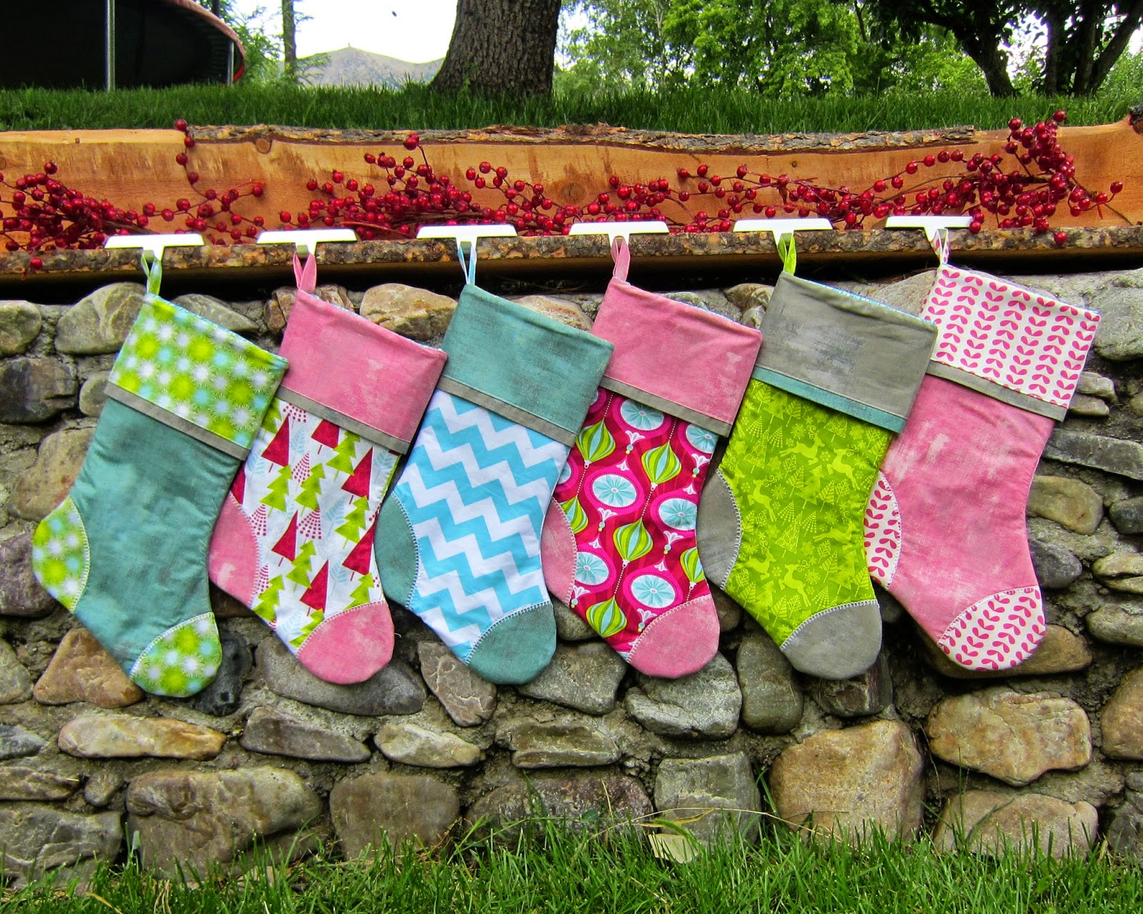Handmade Christmas Stockings Fun And Bright Collection