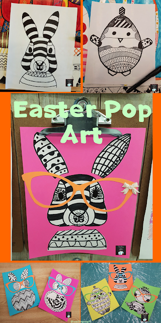 Easter Icons Pop Art from Teachingisagift.blogspot.ca