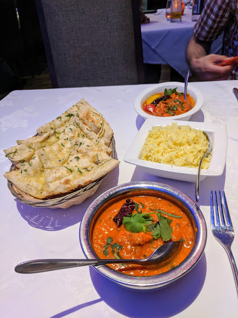 What to eat in Aberdeen Scotland: curries at 8848 Restaurant