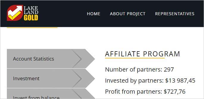 Оборот партнерской структуры в LakeLand Gold