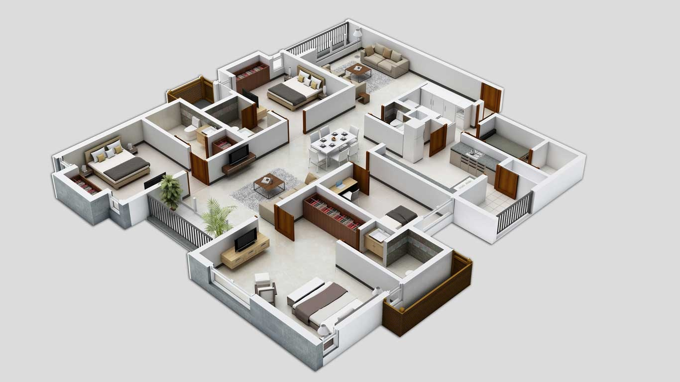 40 Inspiring Ideas About Free 3D Floor Plans, For A Good House Design    Decor Units