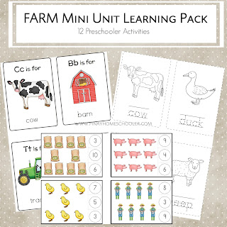 Farm Mini Unit Learning Pack