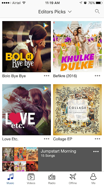 Hungama Music App Screenshot