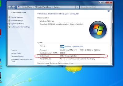 cara mengetahui versi windows berapa bit