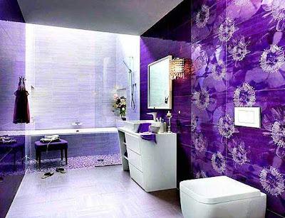 Bathroom Design With Color Purple