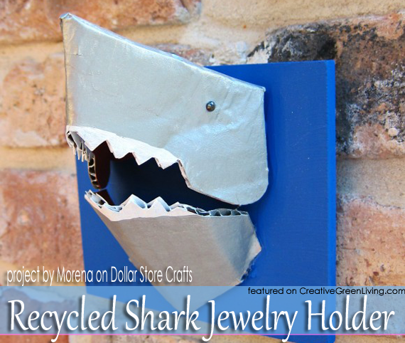 shark+week+crafts+-+recycled+cardboard+shark+jewelry+holder Homemade Plant Stands And Holders on glass plant holders, metal plant holders, outside plant holders, plant sign holders, flower pots and holders, tools and holders, outdoor plant holders,