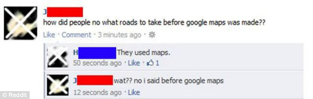 Someone asking about what we used before Google Maps