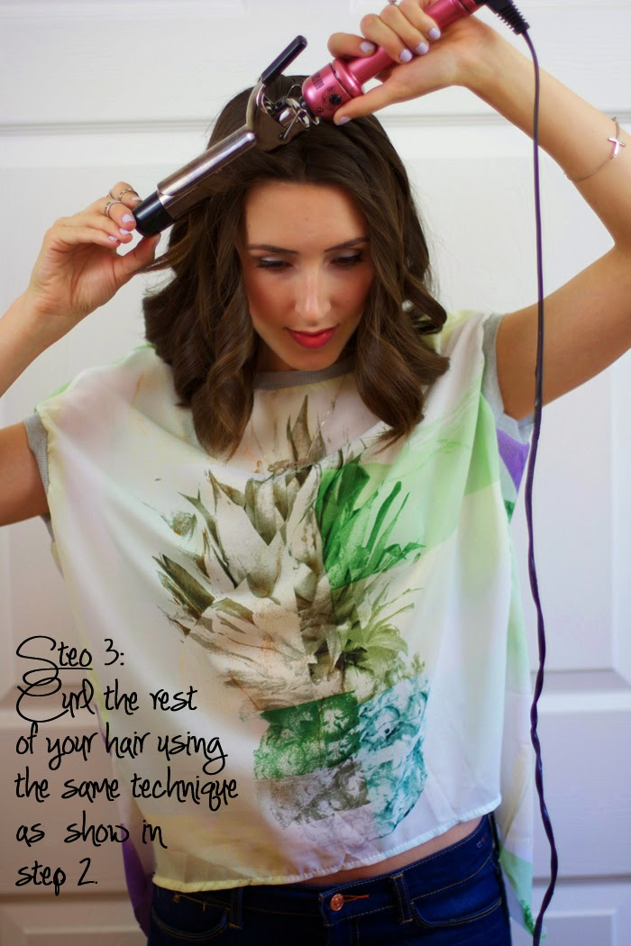 Tutorial: Loose Curls for Short Hair