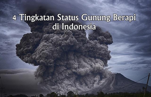 4 tingkatan status gunung berapi di indonesia