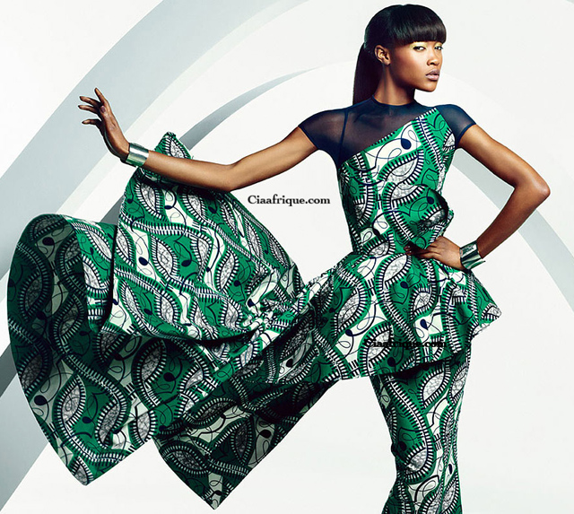 Vlisco campaign: Parade of Charm - robe en pagne de vlisco ciaafrique-ankara dresse by vlisco