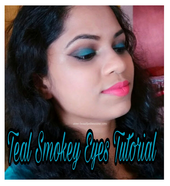 Simple Teal Smokey Eye Makeup Tutorial...