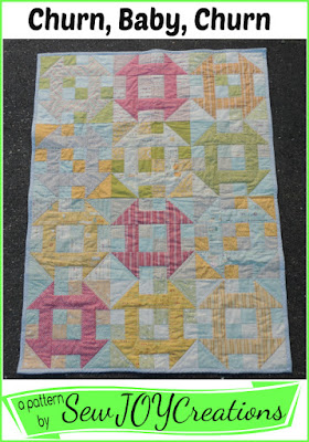 Churn, Baby, Churn quilt pattern by Sarah Vanderburgh of sewjoycreations