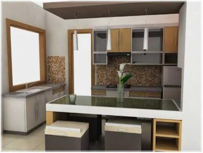 desain dapur dan ruang makan futuristik