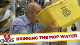 Funny Video – Thirst Quenching Mop Bucket Flavoured Water