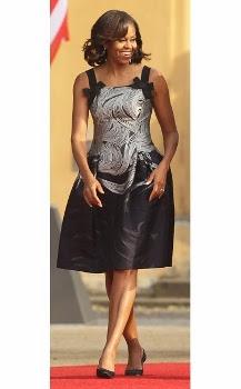 Patrón gratis vestido de Michelle Obama