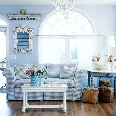 Coastal Country Style Living Room