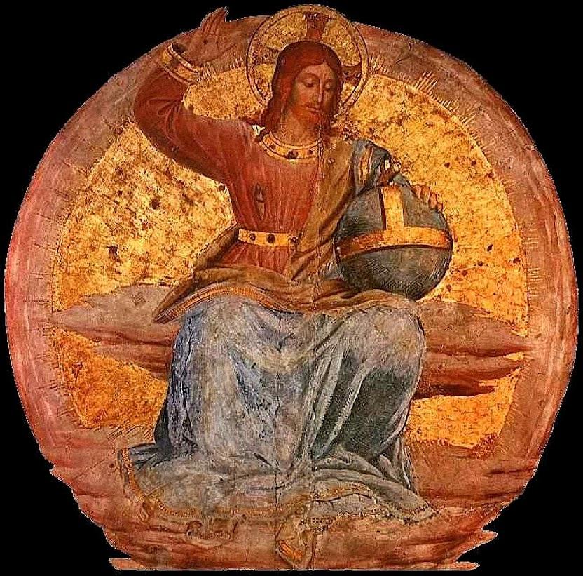 Cristo em Majestade no Juízo Final. Fra Angelico (1395-1455). Catedral de Orvieto, Itália