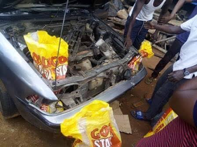 Photos: Smugglers develop new ingenious way to smuggle rice into the country
