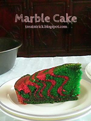 Marble Cake Recipe @ treatntrick.blogspot.com