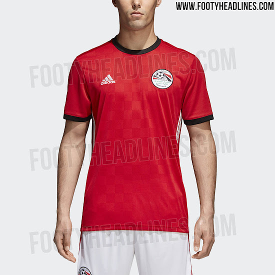 Official  Egypt 2018 World Cup Kit Revealed - Footy Headlines 7f84c7b08