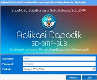 jenjang pendidikan dasar yang mencakup SD Download Aplikasi Dapodik Terbaru Versi 4.1.0
